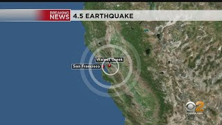 A 4.5-magnitude earthquake struck near walnut creek — 16 miles east of oakland monday night. there was no immediate word any major damage or injuries.