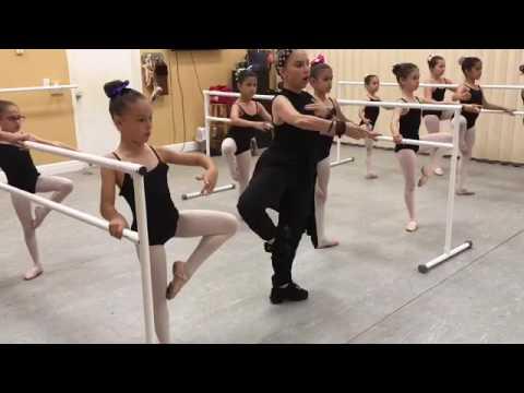 Beginners Ballet Class by Lourdes Albarellos