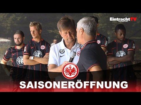 Mannschaftspräsentation bei der Eintracht-Saisoneröffnungsfeier, 02.08.2015