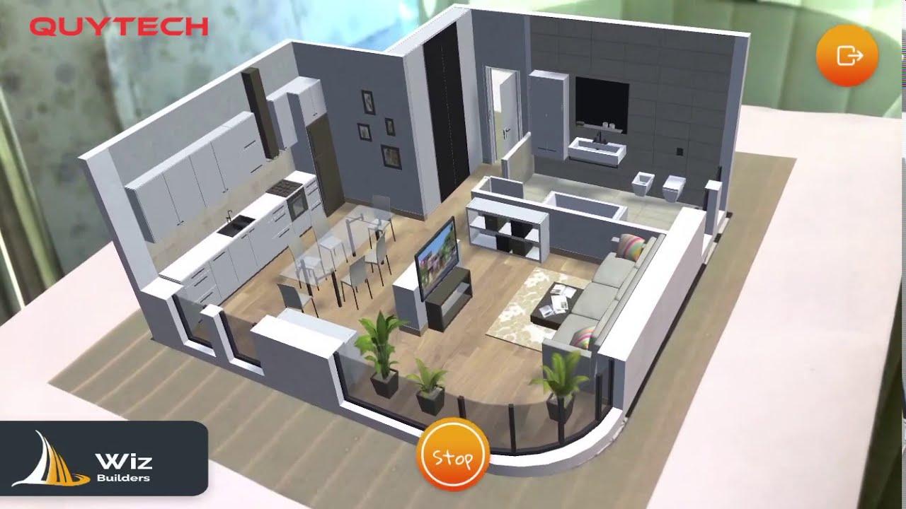 Augmented Reality Interior Design App Ar App To Create Floor Plans Demo Youtube