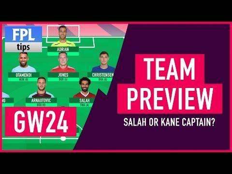 GAMEWEEK 24: TEAM SELECTION | Salah or Kane Captain? | Fantasy Premier League 2017/18