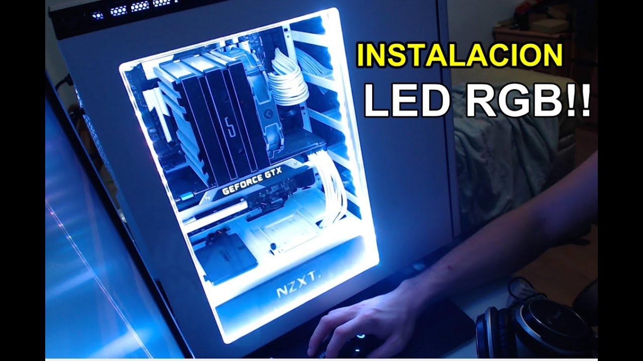 Instalaci n de luces led rgb en mi torre youtube - Luces led a pilas para armarios ...