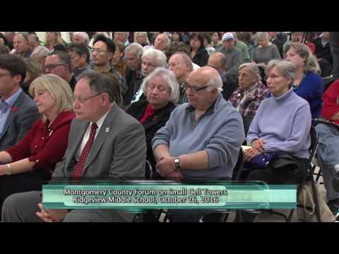 Montgomery County Forum on Small Cell Towers - 10.26.2016