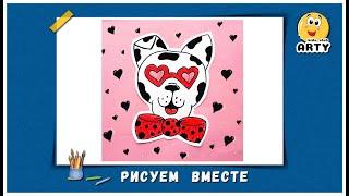 Познавательное рисование для детей с KIDS CLUB ARTY. Видеоурок. Рисуем Собаку