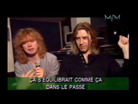 def leppard on france TV - slang album release - 1996