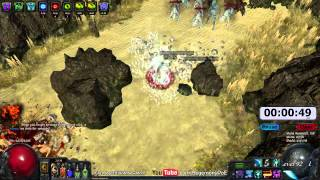 Path of Exile Act 4: Gorge Clear Speed Run with Freeze Pulse! EB/MoM/ZO