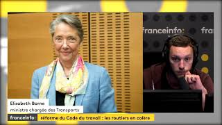 Elisabeth Borne, ministre des transports Grève des routiers