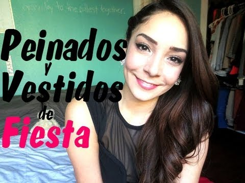 vestidos/outifits y peinados de fiesta!!! - youtube
