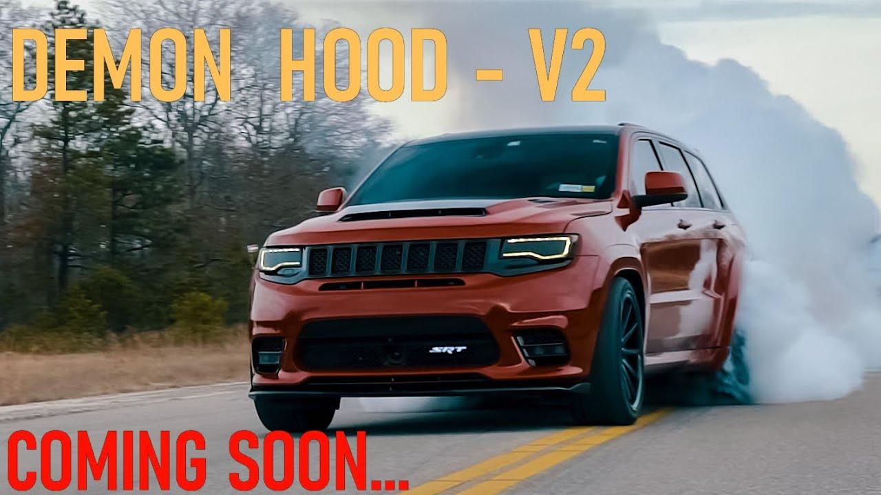 ПОДБОРКА Jeep Grand Cherokee SRT8 и TRACKHAWK - Презентация DEMON Hood V2 Скоро... + CARBON Версия