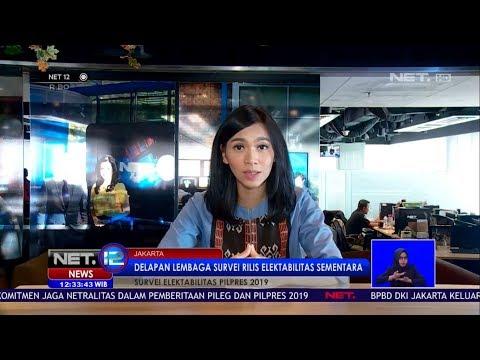 Survei Elektabilitas Pilpres 2019, 15 Persen Responden Belum Tentukan Pilihan NET12