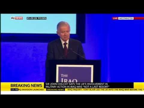 John Chilcot: Iraq Inquiry press conference