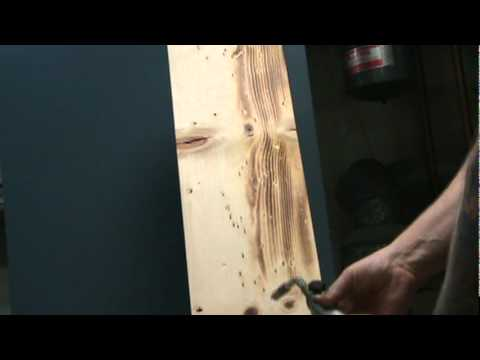 Torch method to finish shelves