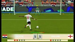 CROATIA vs ENGLAND   Penalty Shootout 2018   PES 2018 Gameplay HD