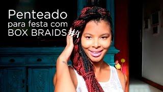 penteado para festa com box braids 4