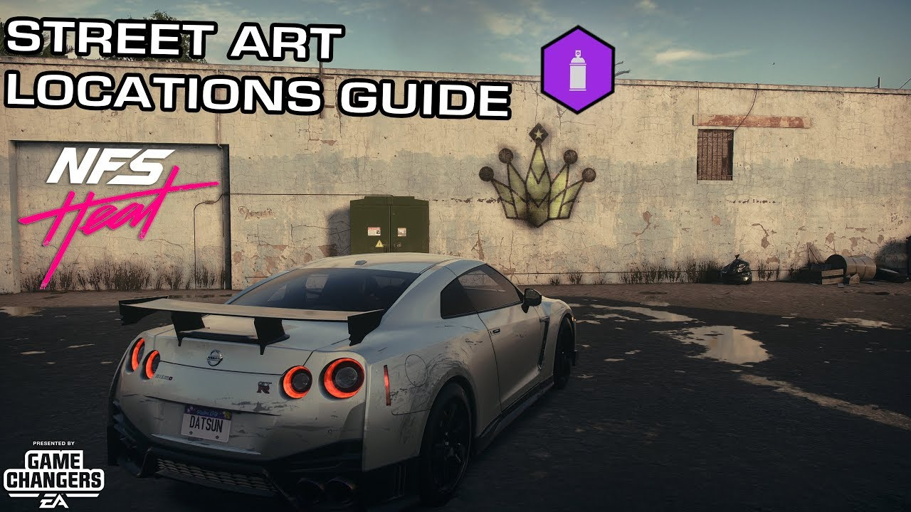 Need For Speed Heat All 130 Street Art Locations Guide Youtube