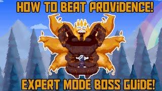 How to Beat Providence in Terraria! -Expert Mode Calamity Boss Guide!