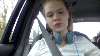 hey guys happy easter in the car with famliy and its my new borns first easter