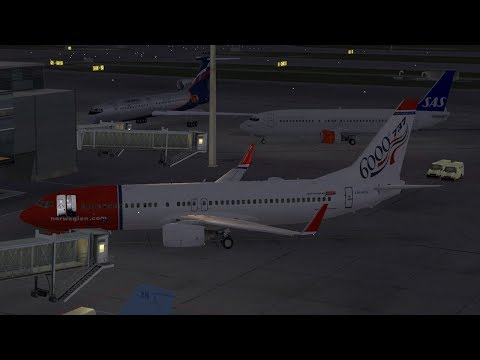 Quick stream | Oslo to Copenhagen PMDG 737 with WOAI traffic *New*