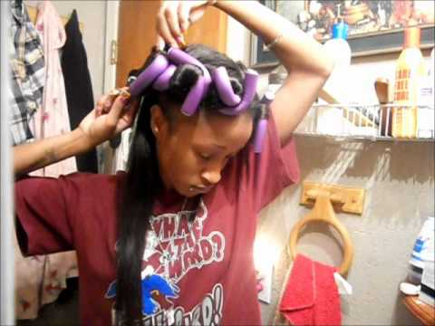 Flexi Rods W Dry Hair Youtube
