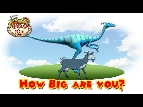 Dinosaur Train : How Big are You?  #7 - Ornithomimus VS Goat  @ Make For Kids