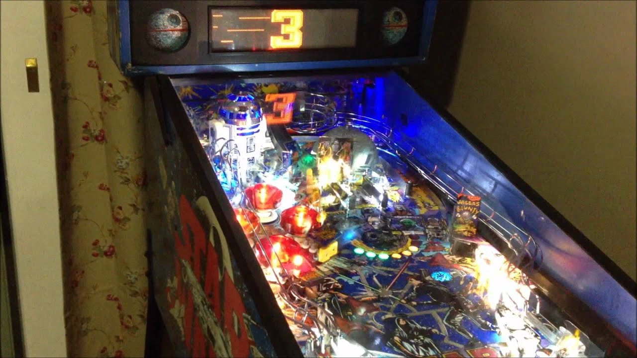 Star Wars Pinball Machine >> Data East Star Wars Pinball Machine Hd Youtube