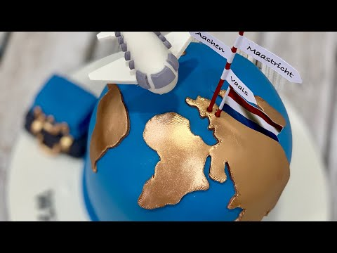 World Map Cake | Globe Cake | Around the world Cake