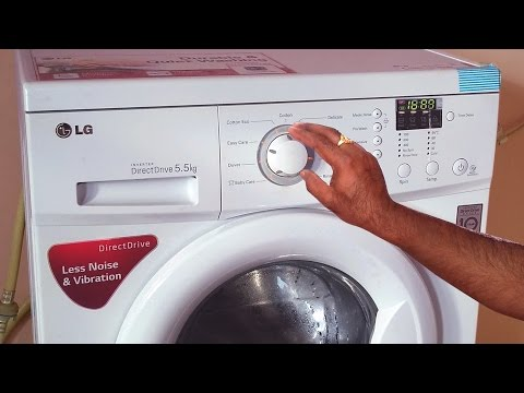 lg front load washing machine demo | how to use front load fully automatic washing machine