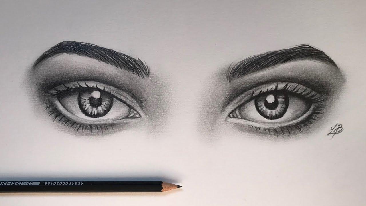 Tutorial Como Desenhar Olhos Iguais How To Draw Both Realistic
