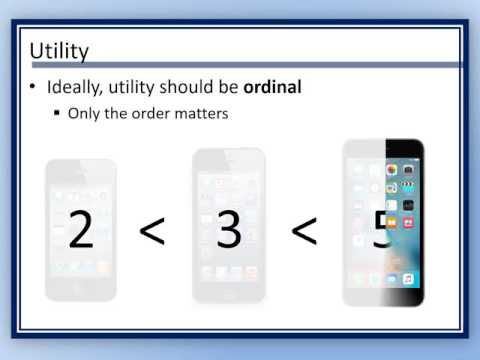 ECON 2011 - Utility and Demand
