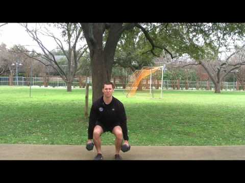 Exercise Move Dumbbell Squat Curl to Press