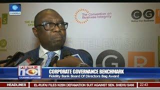 Fidelity Bank Board Of Directors Bag Corporate Governance Award Pt 3 | News@10 | thumbnail