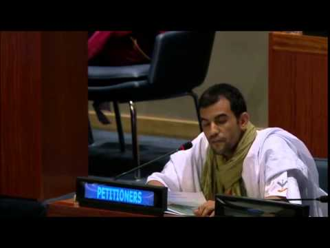 Mulay Speaking at the Fourth Committee, 7th meeting 68th General Assembly 2014