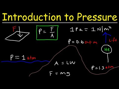 Introduction to Pressure - Force & Area, Units, Atmospheric Gases, Elevation & Boiling Point