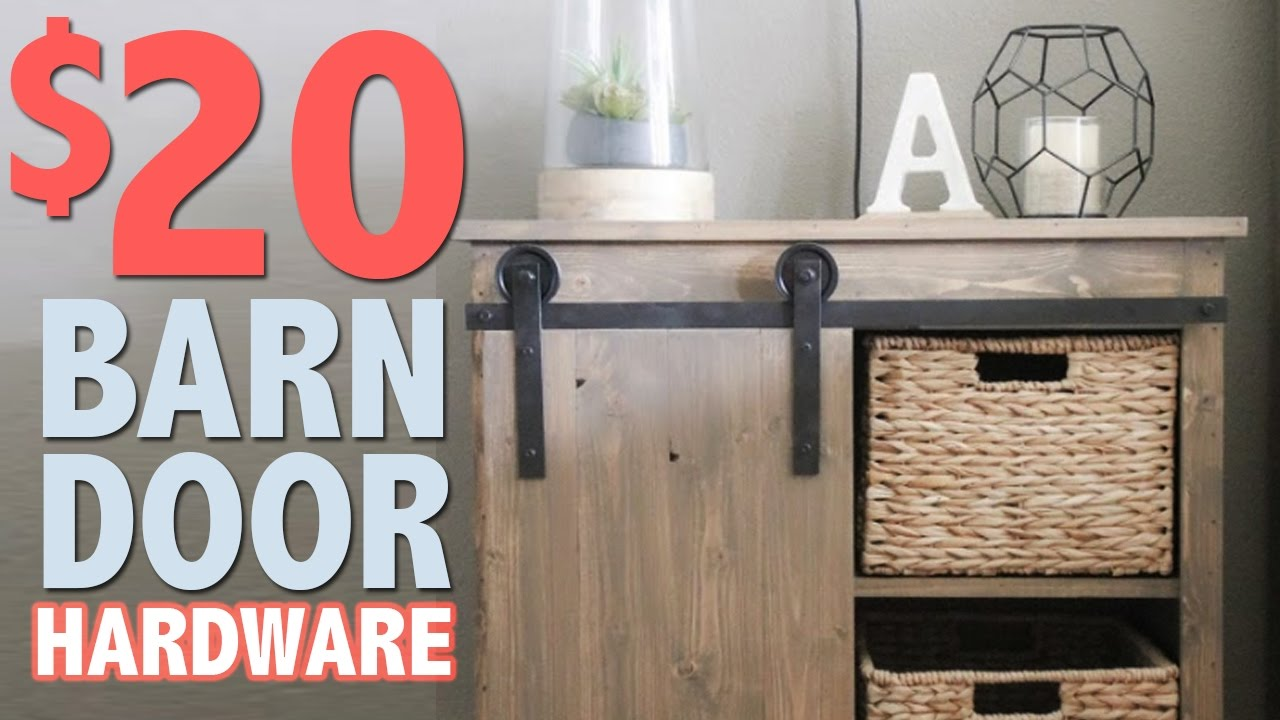 $20 DIY Barn Door Hardware