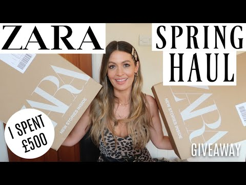 HUGE ZARA HAUL UNBOXING AND TRY ON - NEW IN SPRING SUMMER | APRIL 2019 | GIVEAWAY | MODEL MOUTH
