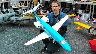 STUNNING RC LIGHTWEIGHT PILATUS PC-24 BUSINESS JET 180 GRAM INDOOR FLIGHT DEMONSTRATION