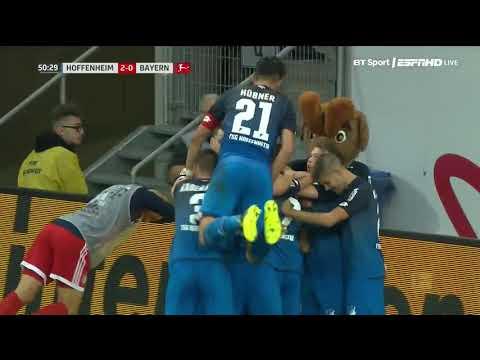 Bundesliga 2017/2018: Hoffenheim 2 - 0 Bayern Munich