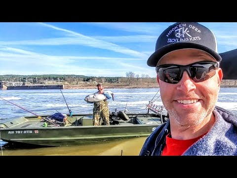Spring Catfishing Action From The Arkansas River