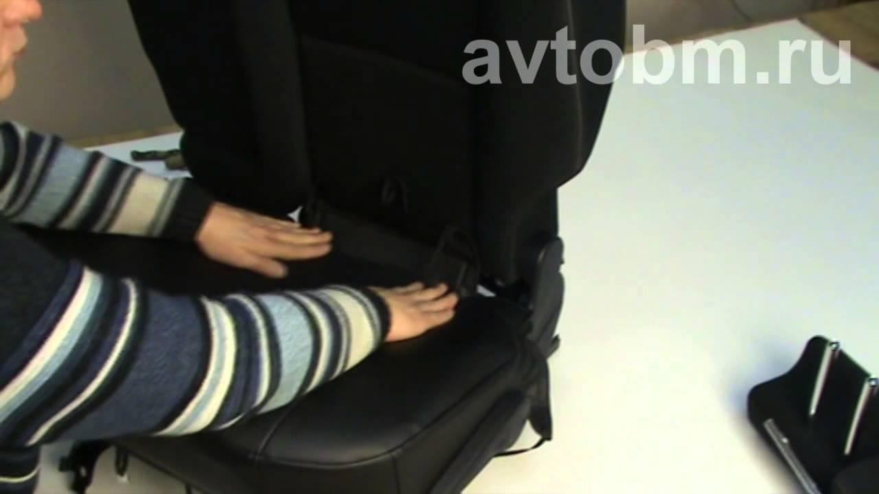 Ауди  А6 установка авточехлов