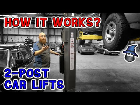 How It Works?!? The CAR WIZARD Shows How To Operate A Two-post Car Lift.