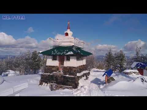 гора Качканар, монастырь Шедруб-Линг с высоты птичьего полёта (зима)