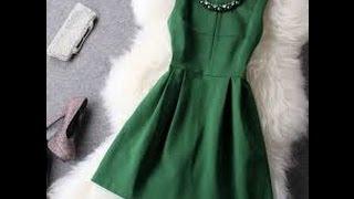 видео С чем носить зеленое платье