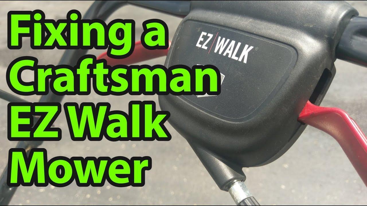 medium resolution of fixing a craftsman ez walk lawn mower