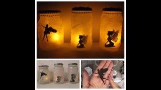 DIY: Elfenglas Feenglas basteln - Fee im Glas - Elfe im Dekoglas - leuchtend Fairy Lantern / Jars