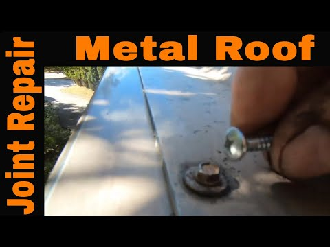 How to stop a leak on a Metal Roof joint seam with Turbo Poly Seal