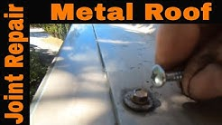 How to stop a leak on a Metal Roof joint seam