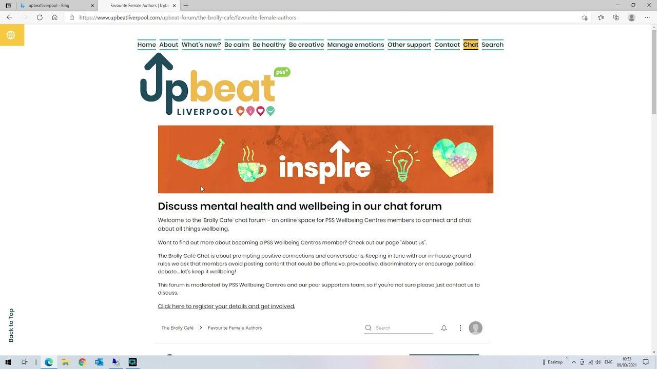 How to... Use the Chat Page on Upbeat Liverpool