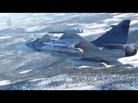 JAS 39 Gripen fäller bomber