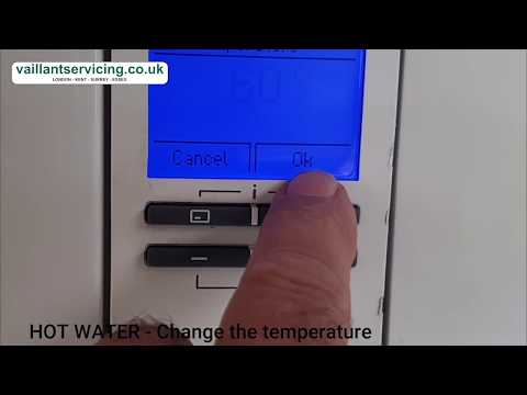 VAILLANT ECOTEC BOILER. How To Use, And Change Temperatures On The LCD Display