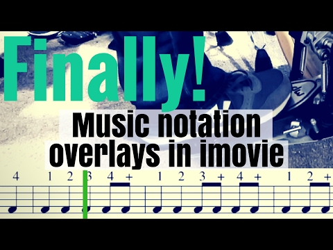 How To Put Music Notation in your videos w/imovie and Logic Pro X
